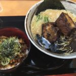 LUNCH SET Cランチ ごっついらーめん+チャーシュー丼