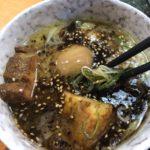 松山市ラーメン萬楽のつけ麺のタレは、2つの味をブレンドしています(^O^)
